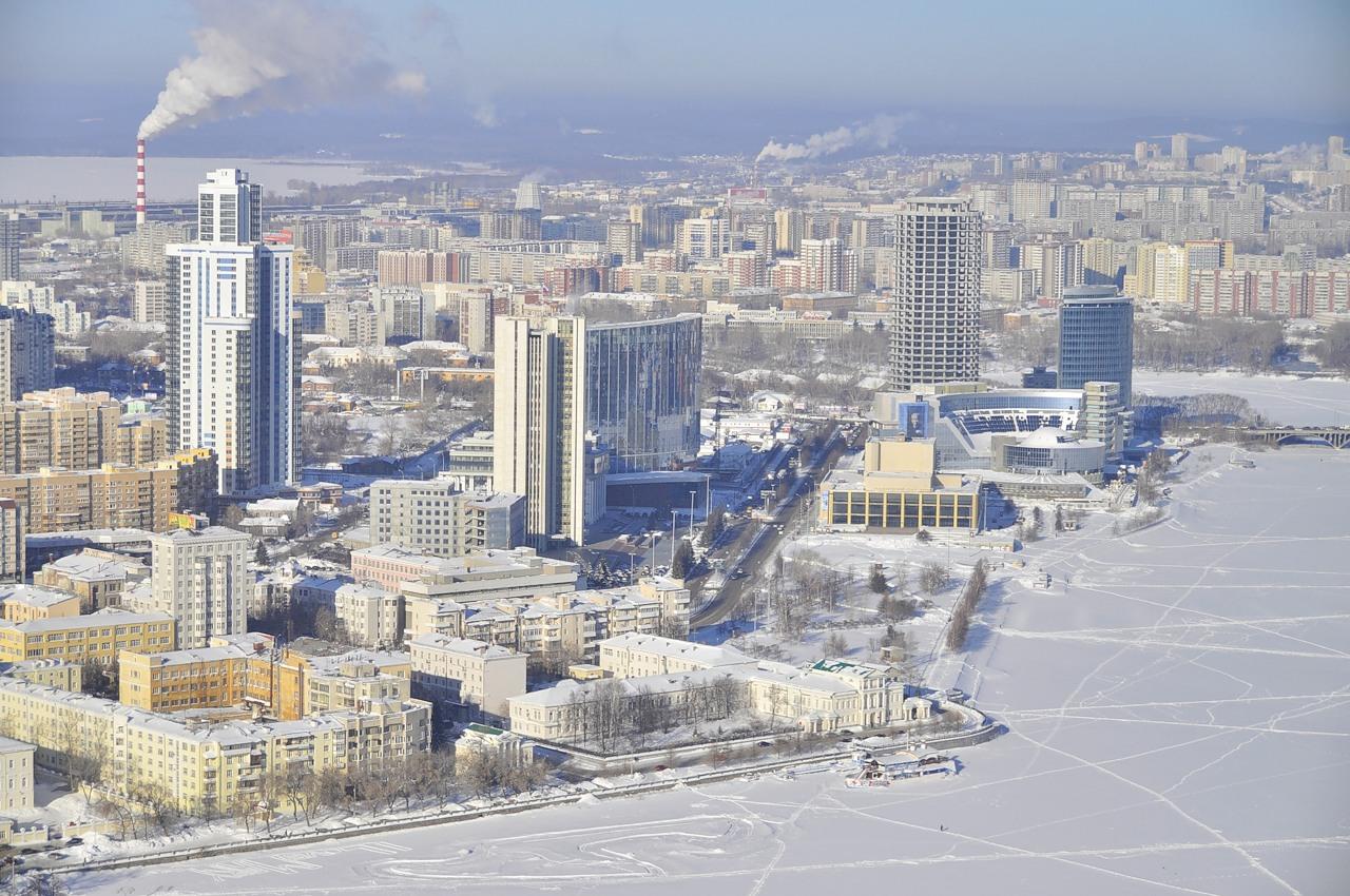 Зима в Екатеринбурге 2016-2017