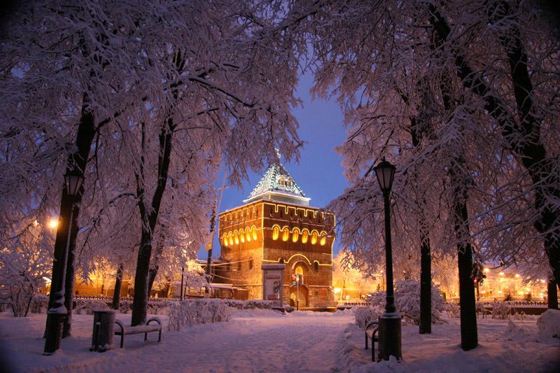 Зима в Нижнем Новгороде 2016-2017