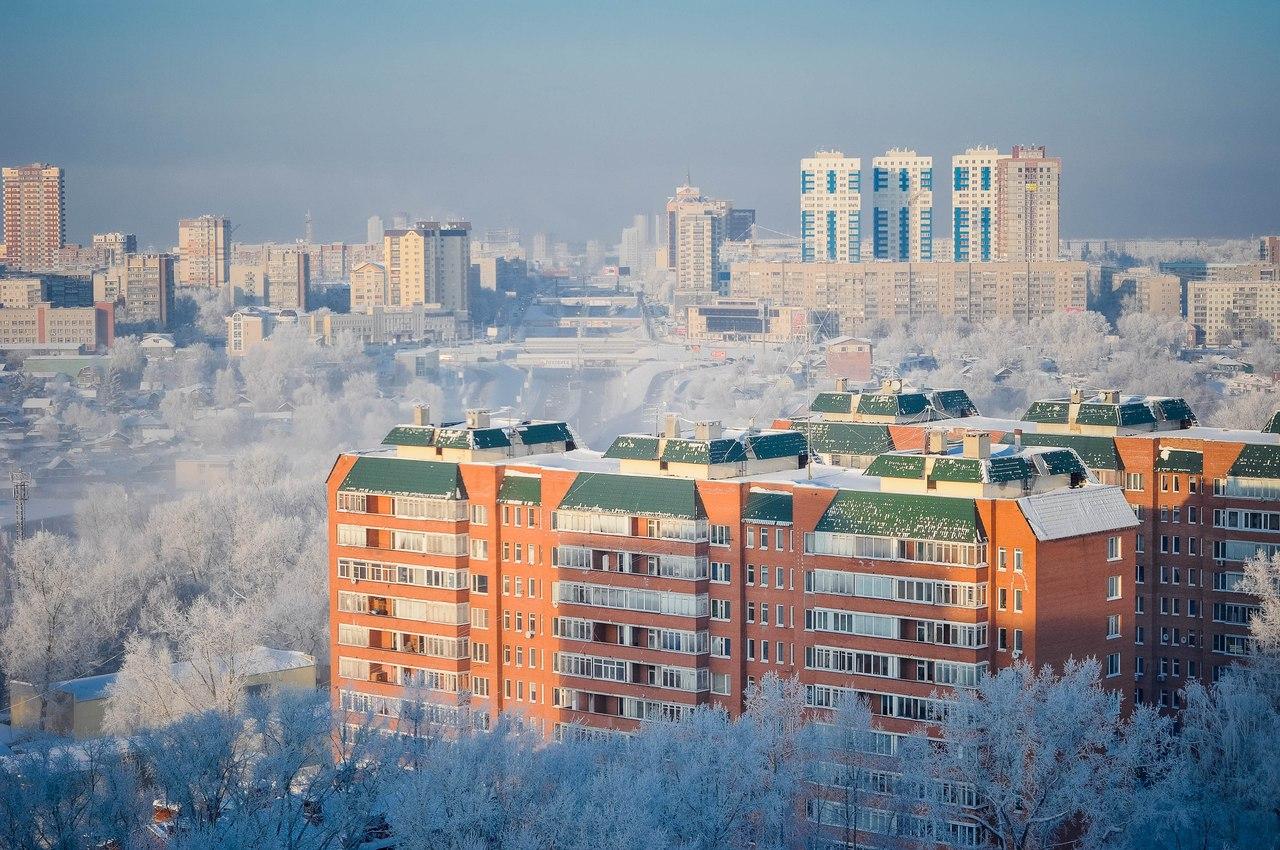 Зима в Новосибирске 2016-2017