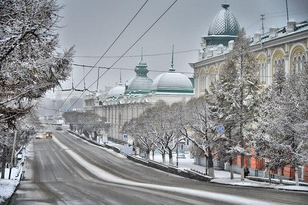 Зима в Омске 2016-2017