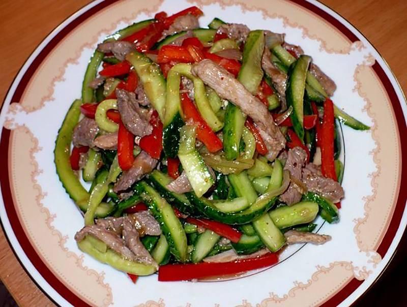 легкие салаты с языком рецепты с фото